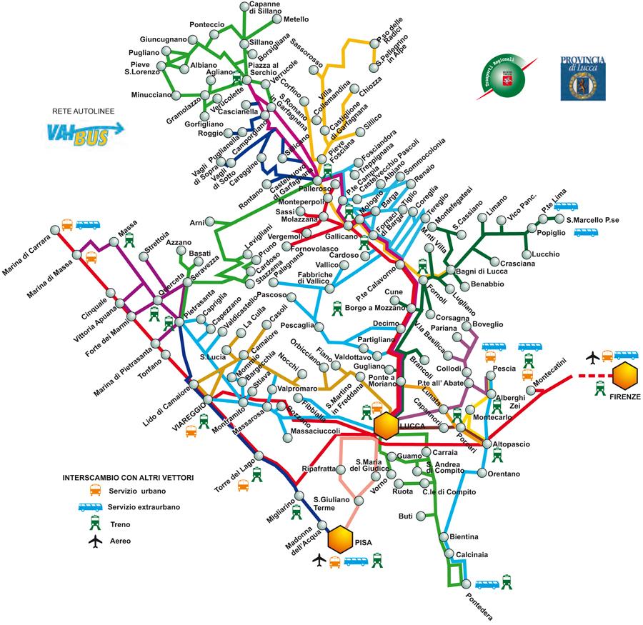 VIAGGIA CON NOI - Pisa bus map